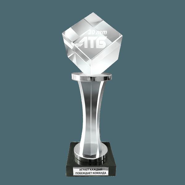 Комбинированный приз металл,стекло,мрамор