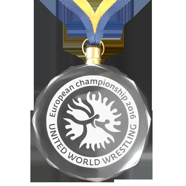 Медаль стеклянная с гравировкой