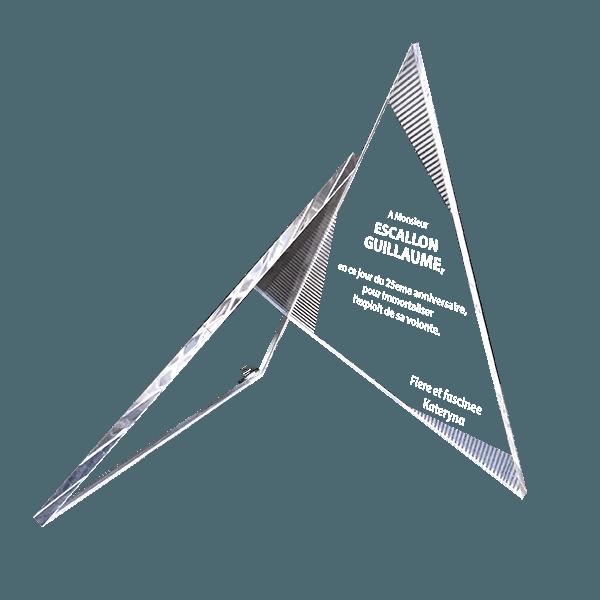 Стеклянный приз Треугольники