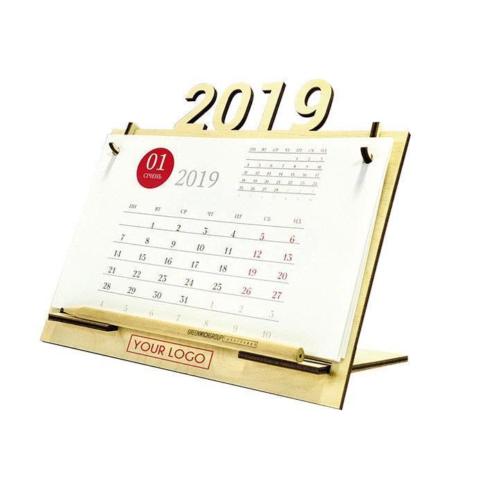 Настольный календарь фанера