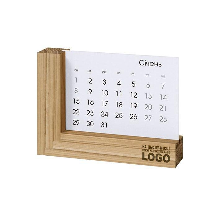Настольный календарь дерево